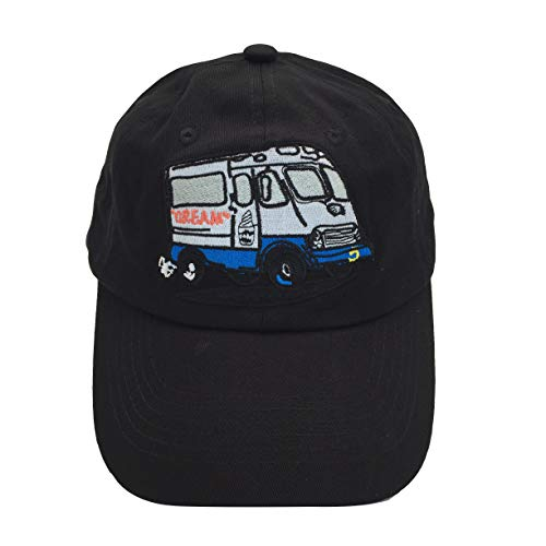 Ice Cream Man is Coming Dad Hat Baseball Cap Embroidered Adjustable Snapback Cotton Black