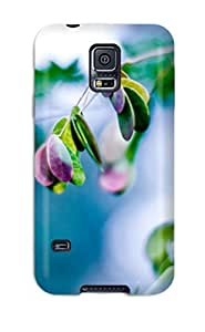 Top Quality Case Cover For Galaxy S5 Case With Nice Splash Of Leaves Appearance by lolosakes