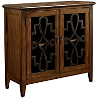 HOMES: Inside + Out IDF-AC508 Gunther Storage Cabinet, Brown