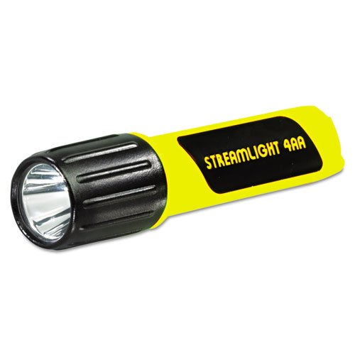 Streamlight ProPolymer Lux LED Flashlight, 4 AA, Yellow - Includes 1 flashlight with four AA alkaline (4 Aa Propolymer Led Flashlight)