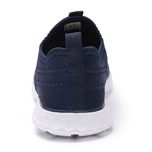 Eyeones Womens Mesh Slip On Water Shoes Blu Scuro (elegante)