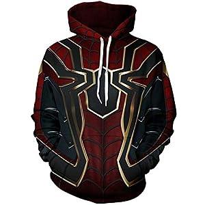 Unisex Superhero Halloween Cosplay Costume Mens Hoodie Jacket