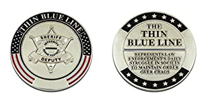 Thin Blue Line Challenge Coin Sheriff from Top Road Pins