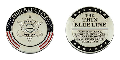 Thin Blue Line Challenge Coin Sheriff by Blue Line Coins