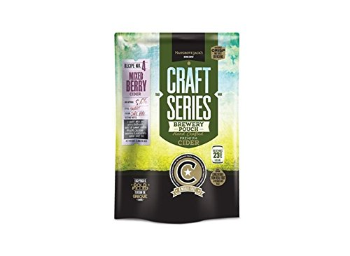 Mangrove Jack's British Series Strawberry & Pear Cider Pouch 2.4 - Jack Mangrove