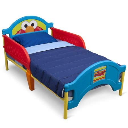 - Sesame Street Elmo Toddler Bed and Mattress (Does not Ship to California)