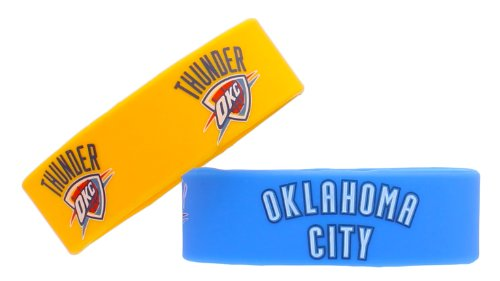 NBA New York Knicks Silicone Rubber Bracelet, 2-Pack
