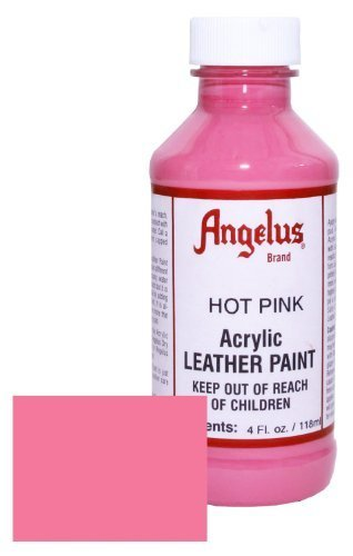 (Angelus Acrylic Leather Paint-4 oz.- Hot Pink by Angelus)