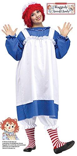 - Fun World Costumes Women's Raggedy Ann Costume, Blue/White, Plus Size