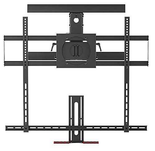 Monoprice Above Fireplace PullDown FullMotion Articulating TV Wall Mount Bracket  for TVs 55in to 100in Max Weight 154lbs VESA Patterns Up to 800x400 Rotating Height Adjustable