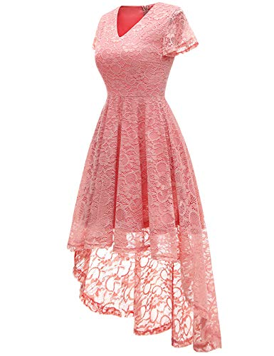 Bbonlinedress-Womens-Vintage-Floral-Lace-Hi-Lo-Cap-Sleeve-Formal-Cocktail-Prom-Party-Dress