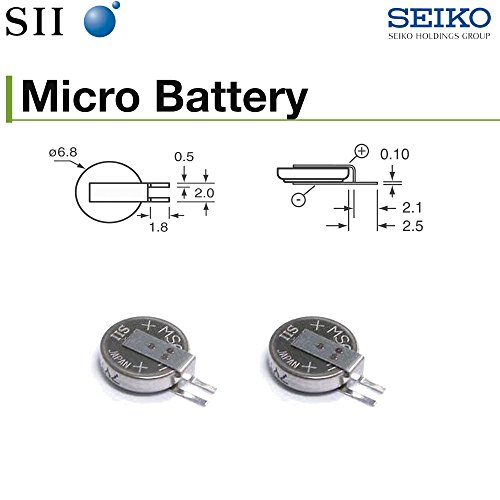 Seiko Battery MS614SE-FL28E MS614SE FL28E Rechargeable 3V 3.4mAh (Pack of 2) -  MS614SE (Pack of 2)