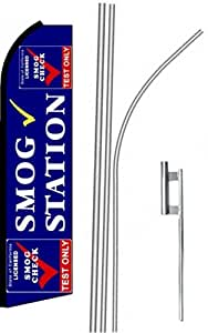 5 (five) SMOG STATION TEST ONLY 15' Swooper #7 Feather Flags KIT