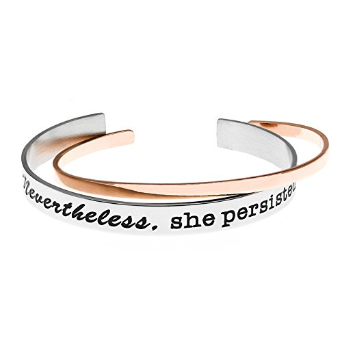 Ms.clover Nevertheless She Persisted Feminist Woman Bracelet, Women's Rights Inspirational Gift For Her.