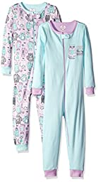 The Children\'s Place Girls\' Stretchie (Pack of 2), Cat/Lilac Haze, 6-9 Months