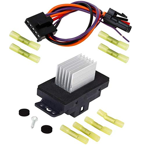PartsSquare HVAC Blower Motor Resistor With Harness 15850268 22754990 RU359 Replacement for Chevy Silverado Tahoe Suburban Impala,GMC Sierra Yukon,Buick Rainier Century Blower Resistor & Wire Pigtail