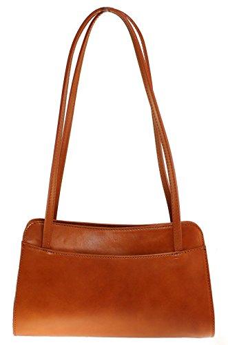 CTM Shoulder Bag Ladies Monedero de las señoras, 30x18x11cm, cuero genuino 100% Made in Italy Cuero