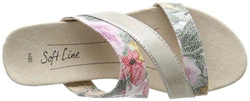 Softline 27161, Mules para Mujer Marrón (Flower Comb. 908)