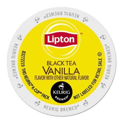 Lipton Indulge Black Tea K-Cups - Vanilla - 24 ct