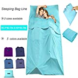 Diagtree Sleeping Bag Liner Cotton Travel Sheet Portable Envelope Ultralight Sleep Sack Soft and Breathable for Outdoor Picnic Travel Hotel (Sky Blue, 83''63'')