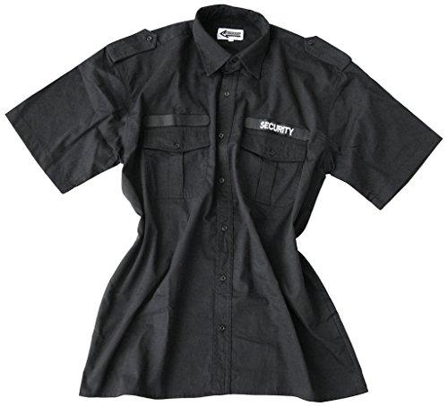 sécurité Chemise avec Bande Velcro Sécurité en 100% Coton Taille L Couleur Noire