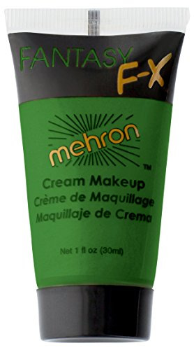 Quick Halloween Costume Ideas For Teenage Girls (Mehron Fantasy FX Face Painting Makeup 1 oz - Green)