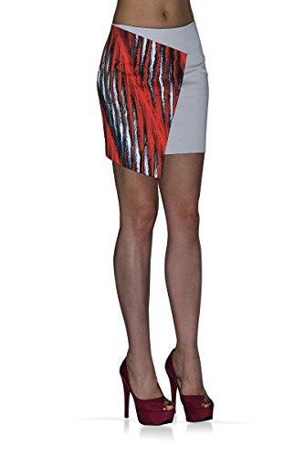 BORDERLINE 100% Made in Italy - Minifalda para Mujer CAPRI
