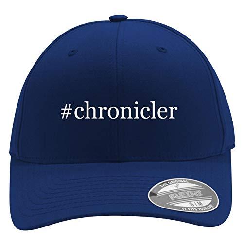 #Chronicler - Men's Hashtag Flexfit Baseball Cap Hat, Blue, Small/Medium