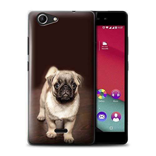 eSwish Phone Case/Cover for Wiko Pulp Fab 4G / Cute Pug Dog Puppy Design/Cute Baby Animal Photos - Designer Dog Fab