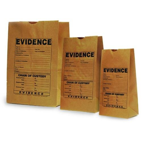 Arrowhead Forensics A-1025C Paper Evidence Bag, Printed