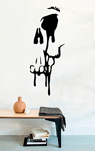 Halloween Vinyl Wall Decals Silhouette Skull Halloween Decor