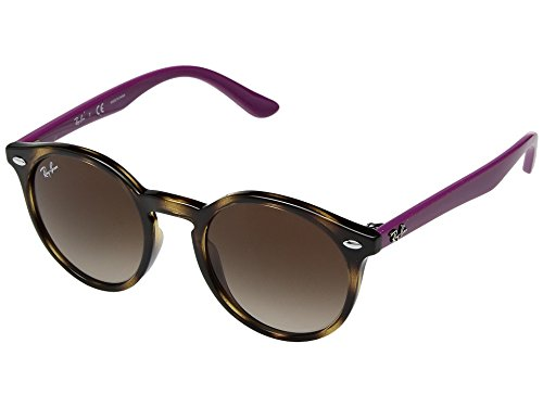 Ray-Ban Junior Kids' Plastic Unisex Round Sunglasses, Havana, 44 - Clubmaster Glasses Prescription Ray Ban