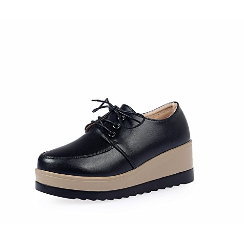 thick the Black soled rounded of Korean students with version plus slope of shoes end shoes cashmere xqfpX1a
