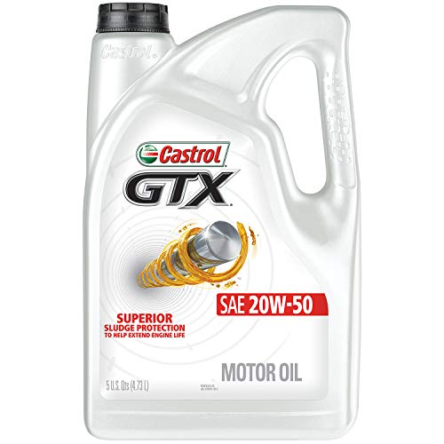 Castrol 03095 GTX 20W-50 Motor Oil, 5