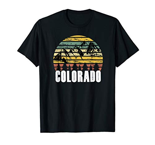 Colorado Vintage Rocky Mountains for Coloradans Distressed  T-Shirt (Crystal Mill In The Rocky Mountains Of Colorado)