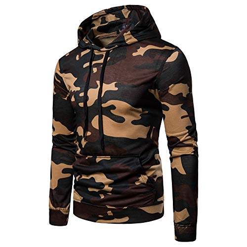 Winter Jackets for Men Construction.Mens Autumn Casual Camouflage Long Sleeve Pullover Sweatshirt Hoodie Coat Top ()