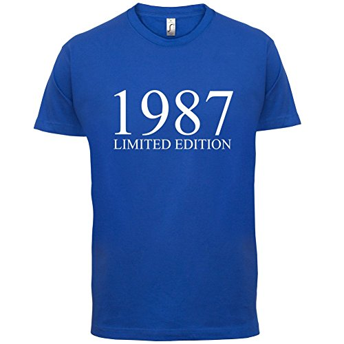 1987 Limierte Auflage / Limited Edition - 30. Geburtstag - Herren T-Shirt - Royalblau - M