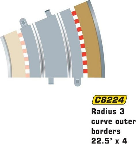 Scalextric C8224 Borders Tan Outer Radius - 22.5 Degrees