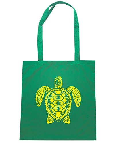 T-Shirtshock - Bolsa para la compra FUN0200 08 07 2013 Sea Turtle Spirit T SHIRT det Verde