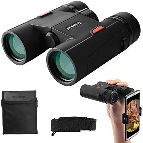 Eyeskey Wayfarer 8×32 Compact Binoculars for Adults and Kids with Phone Adapter, Specially Designed for Travel, Great Gift