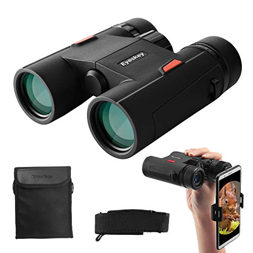 Eyeskey Wayfarer 8×32 Compact Binoculars for Adults and Teenagers, Specially Designed for Travel Also Great for Outdoor Activities, Sports Games and Concerts
