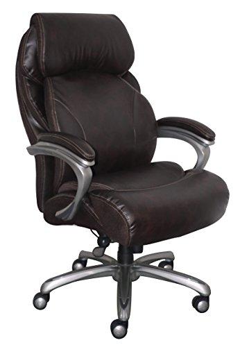 Serta CHR10053B Big & Tall Executive Office Chair, Brown