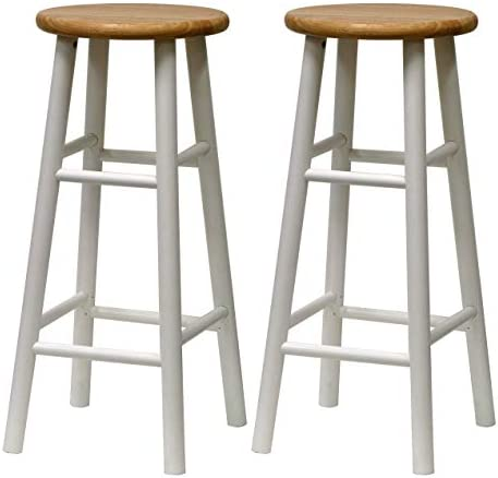 Winsome 53780 Tabby Stool, White