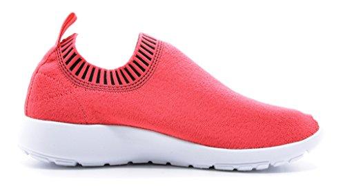 DREAM PAIRS Neue Mode Damen Lady Easy Walk Slip-On Leichte Freizeit Comfort Loafer Schuhe Turnschuhe 160486-Koralle Schwarz