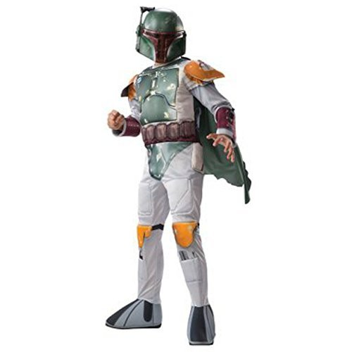 Disney Star Wars Boys' Boba Fett Muscle Costume (Medium 8-10)