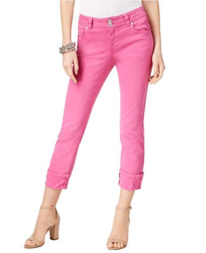 Plus Cropped Jeans (INC Womens Plus Colored Slim Tech Fit Cropped Jeans Pink 20W)