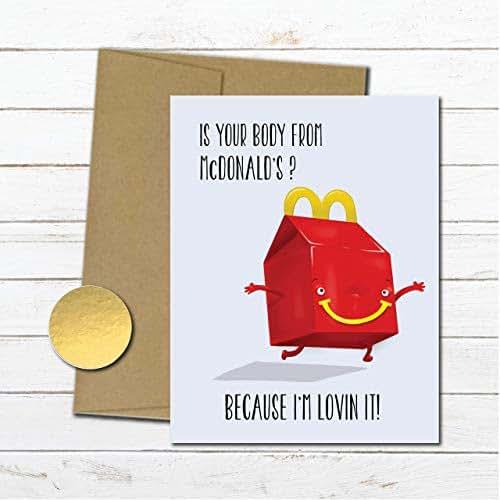Amazon.com: Funny Mcdonalds Anniversary Card, Cheesy Love