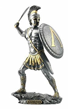 - Spartan Warrior with Sword & Hoplite Shield Sculpture !