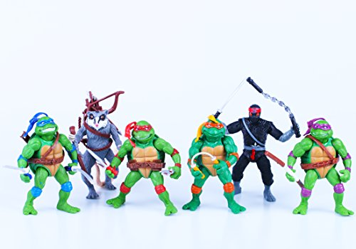 Teenage Mutant Ninja Turtles Anime Moving Action Figures Toy Set, 4.7-Inch, 12cm, Set of 6pc (Without original box)