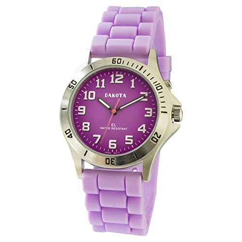 Electro Luminescent Analog - Easy Clean, Light Up Nurse Watch by Dakota-Purple